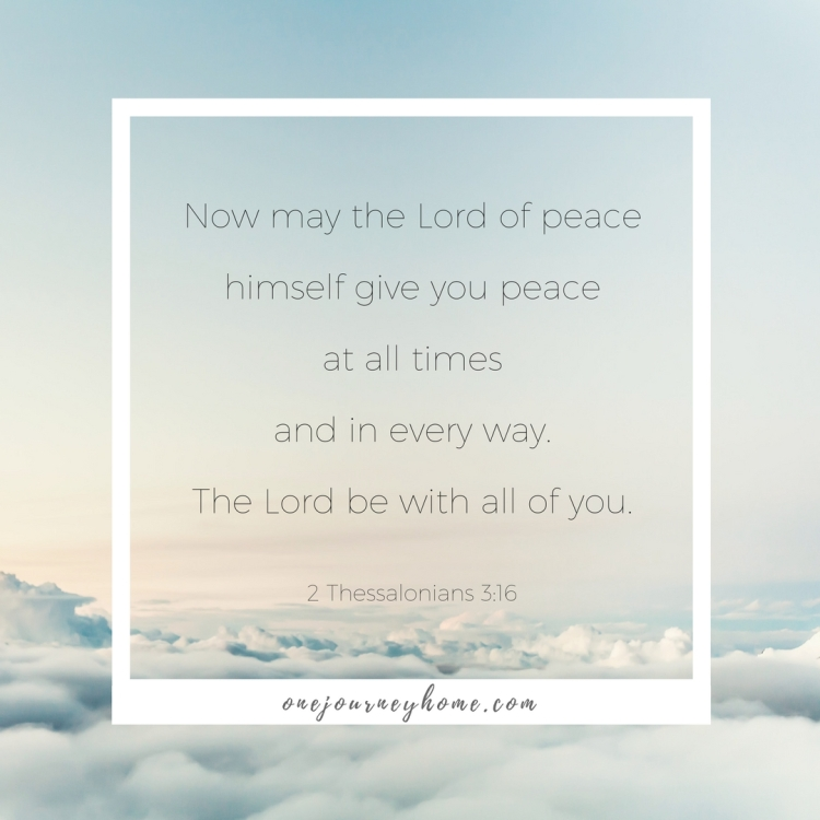 peace at all times