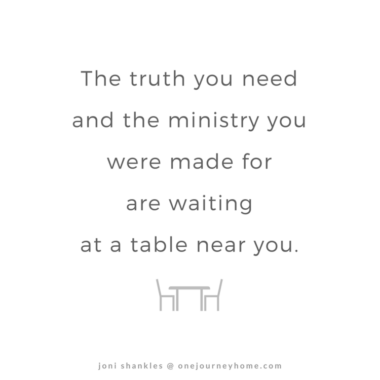 Quotes Table Truth and Ministry